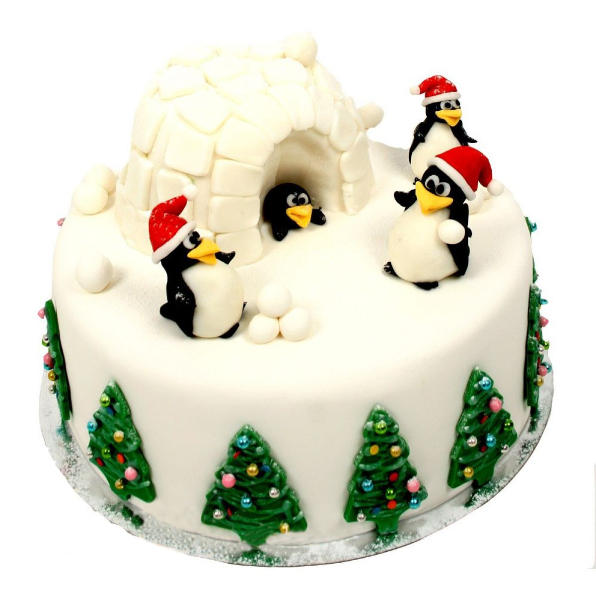 №1001 Торт пингвины