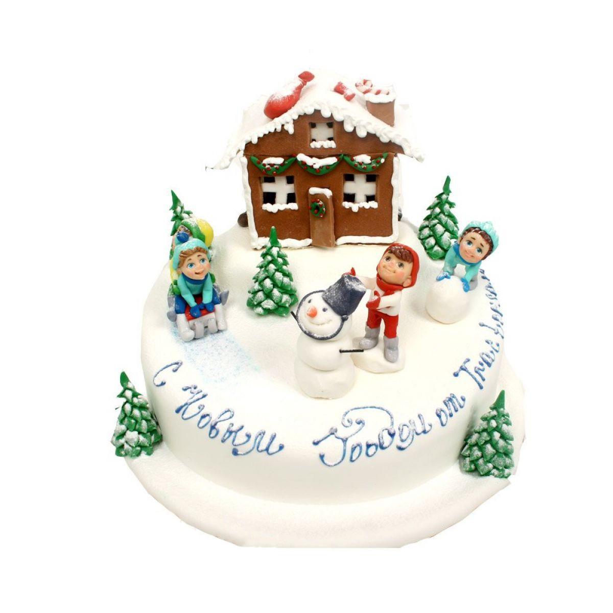№1005 Торт снеговик