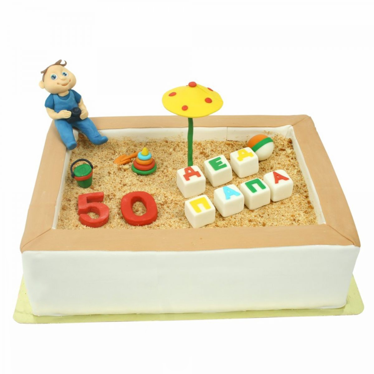 №1381 Торт песочница