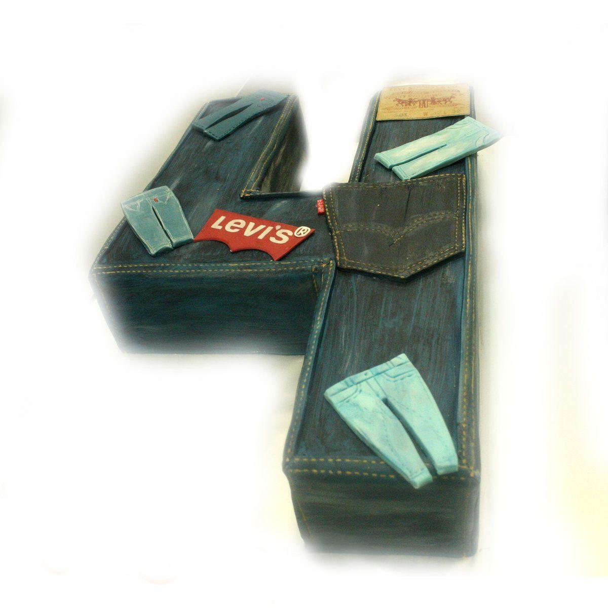 №482 Торт джинсы
