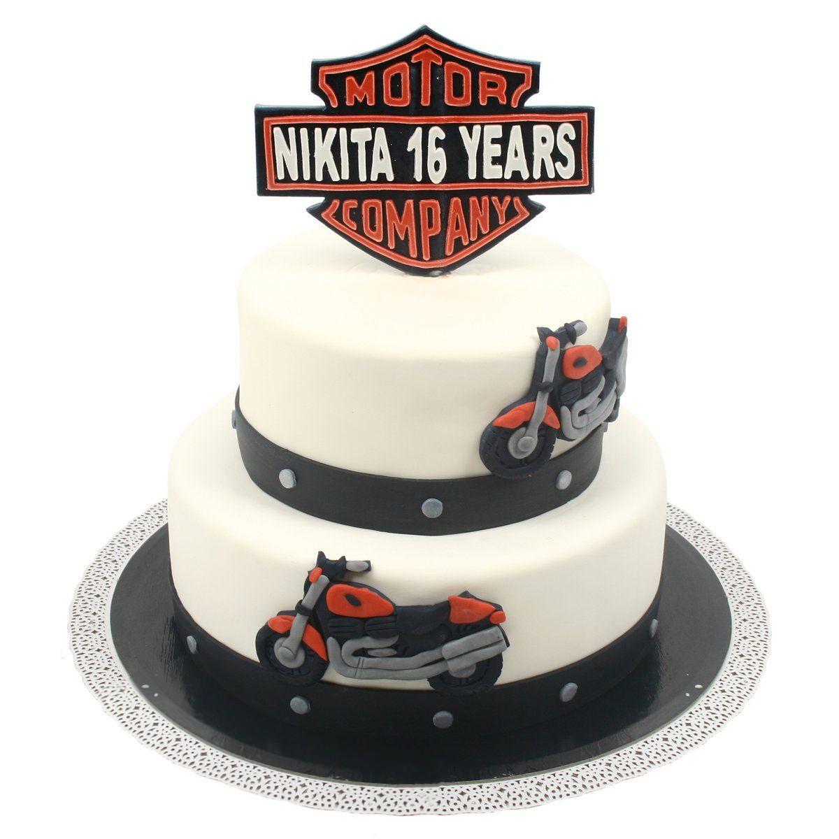 №527 Торт мотоцил
