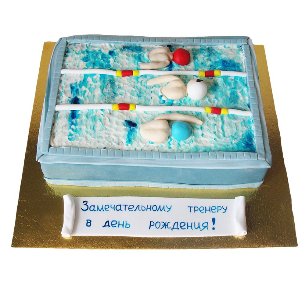 №56 Торт бассейн