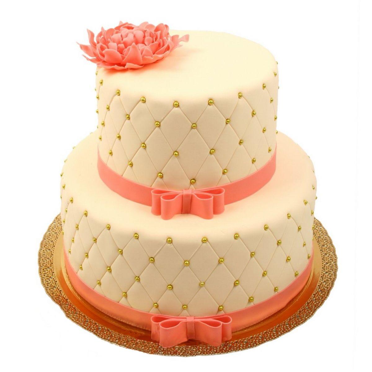 №595 Торт пионы