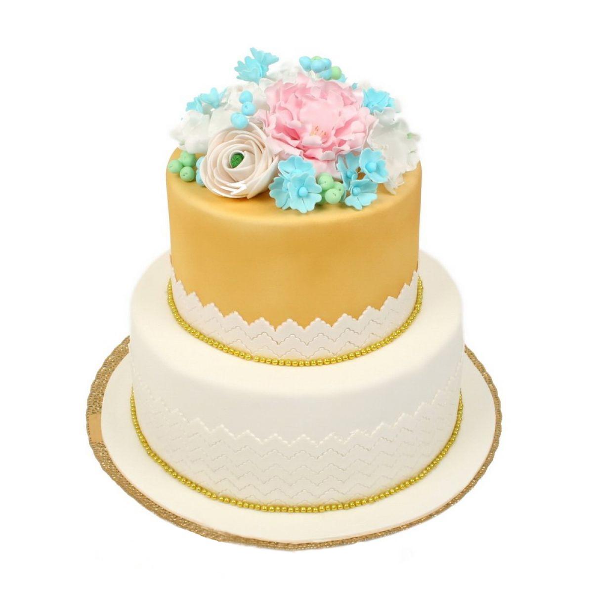 №641 Торт цветы