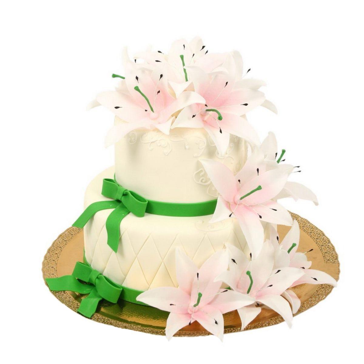 №692 Торт лилии