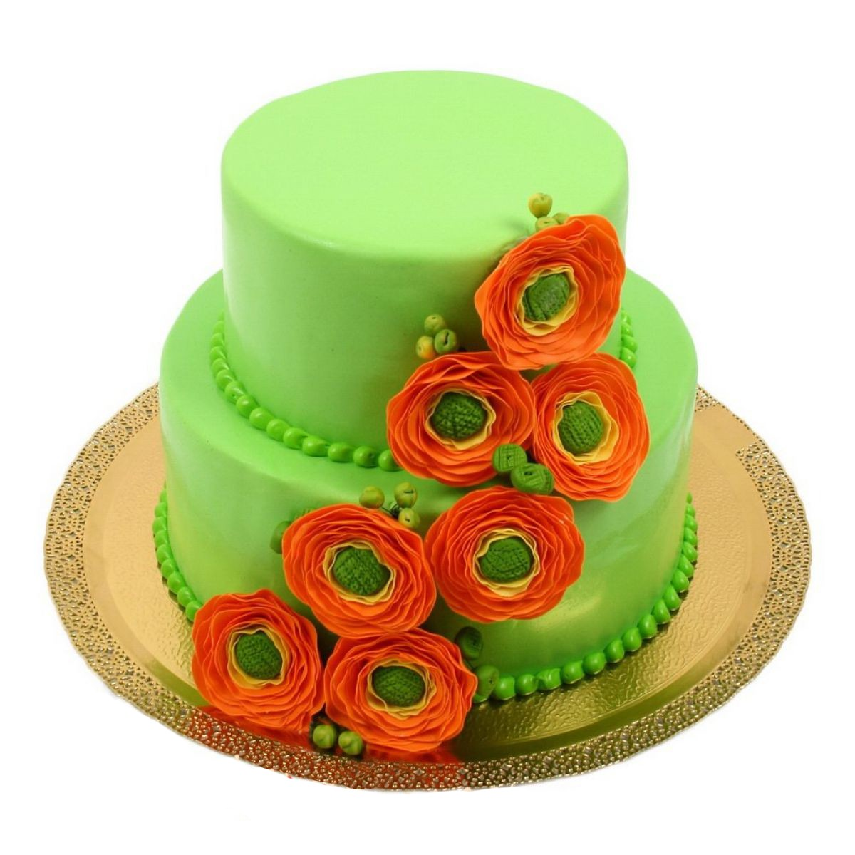 №750 Торт цветы