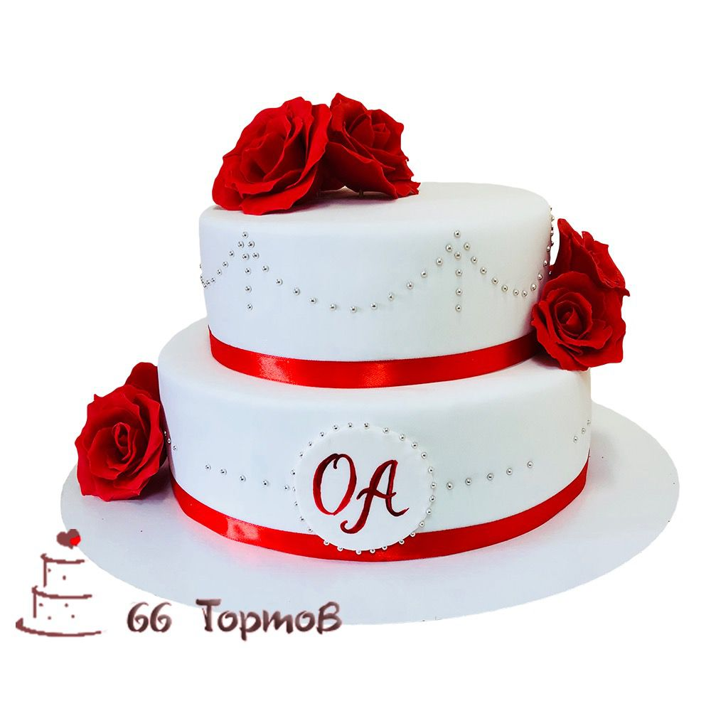 №82 Торт инициалы