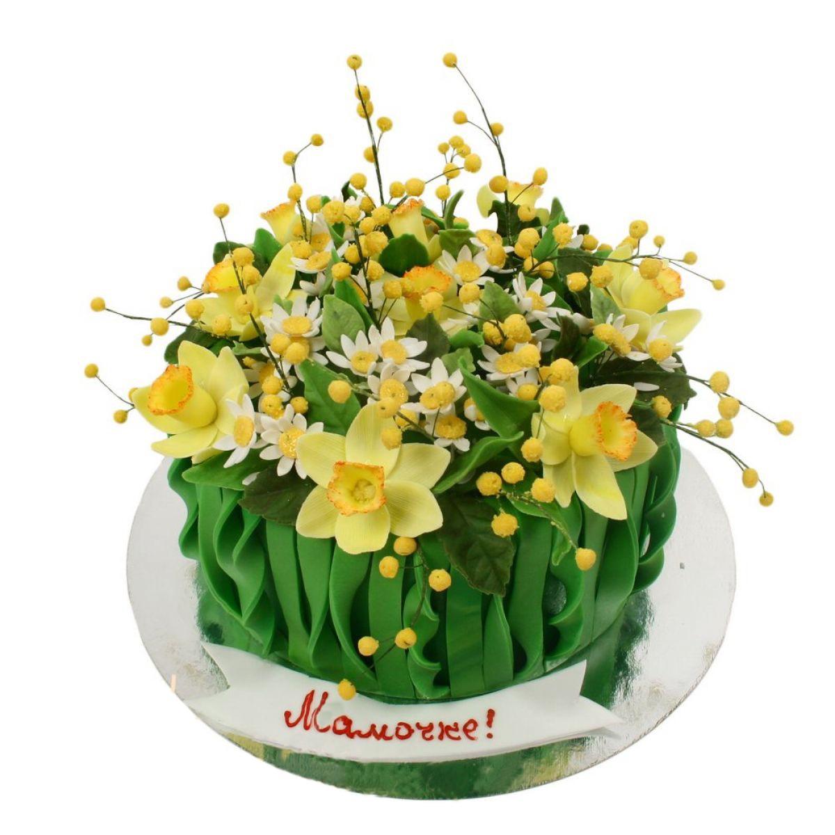 №828 Торт цветы