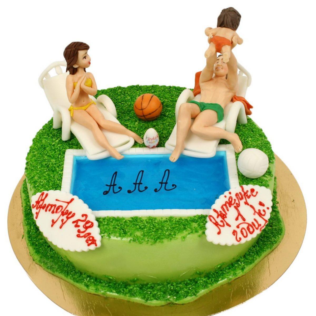 №851 Торт бассейн