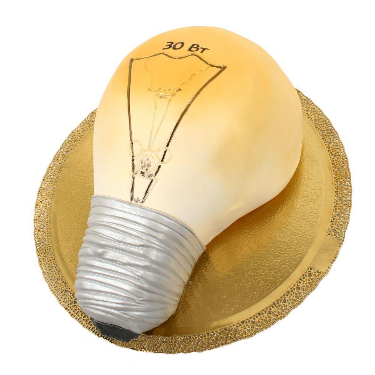 №914 Торт лампочка