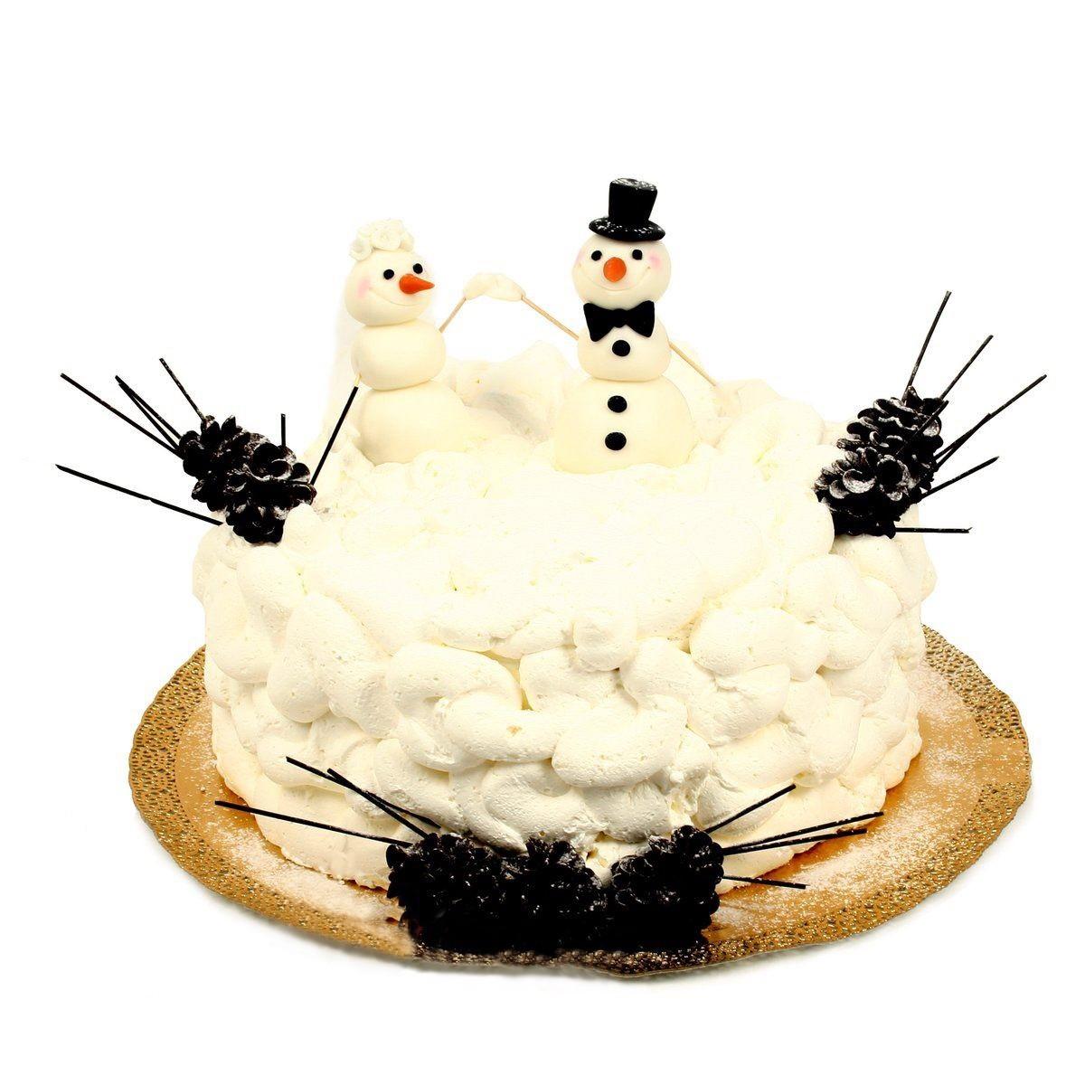 №1027 Торт снеговики