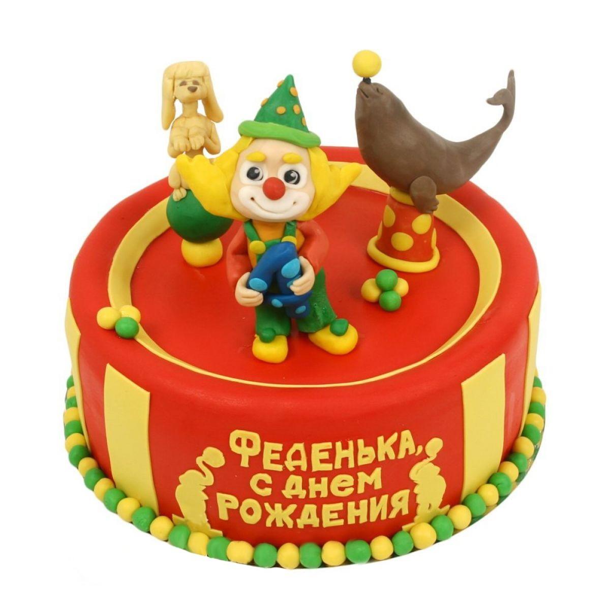 №1052 Торт клоун