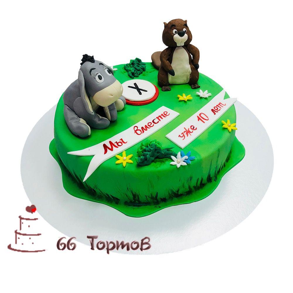 №112 Торт с осликом и бобром