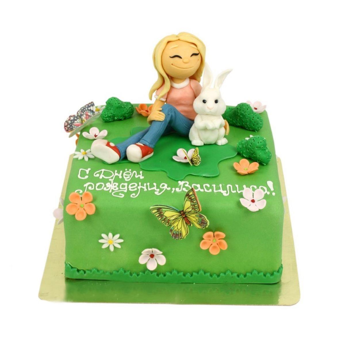 №1172 Торт девочка с зайкой