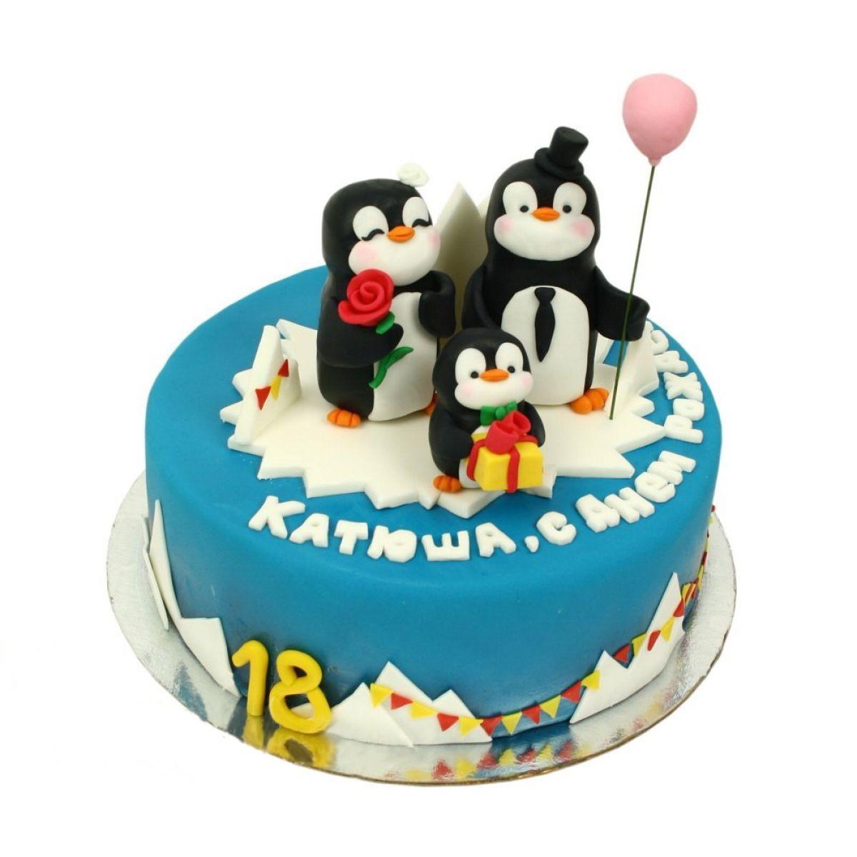 №1243 Торт пингвины