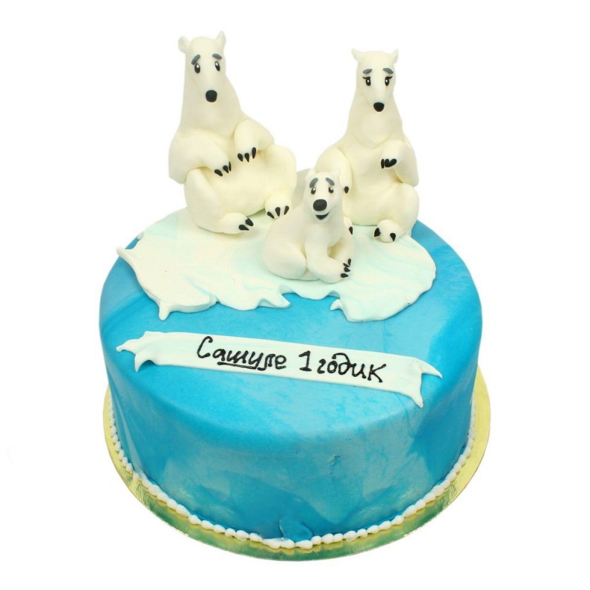 №1244 Торт белые мишки