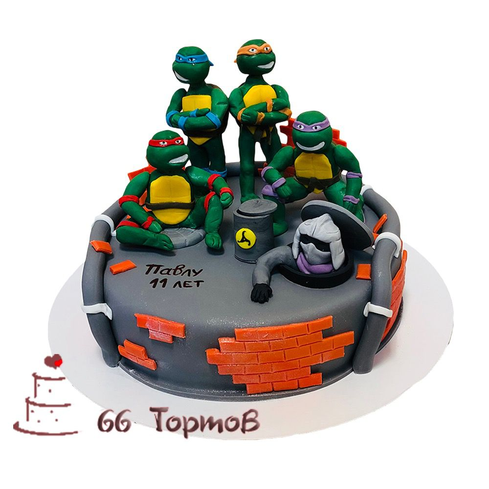 №131 Торт черепашки ниндзя