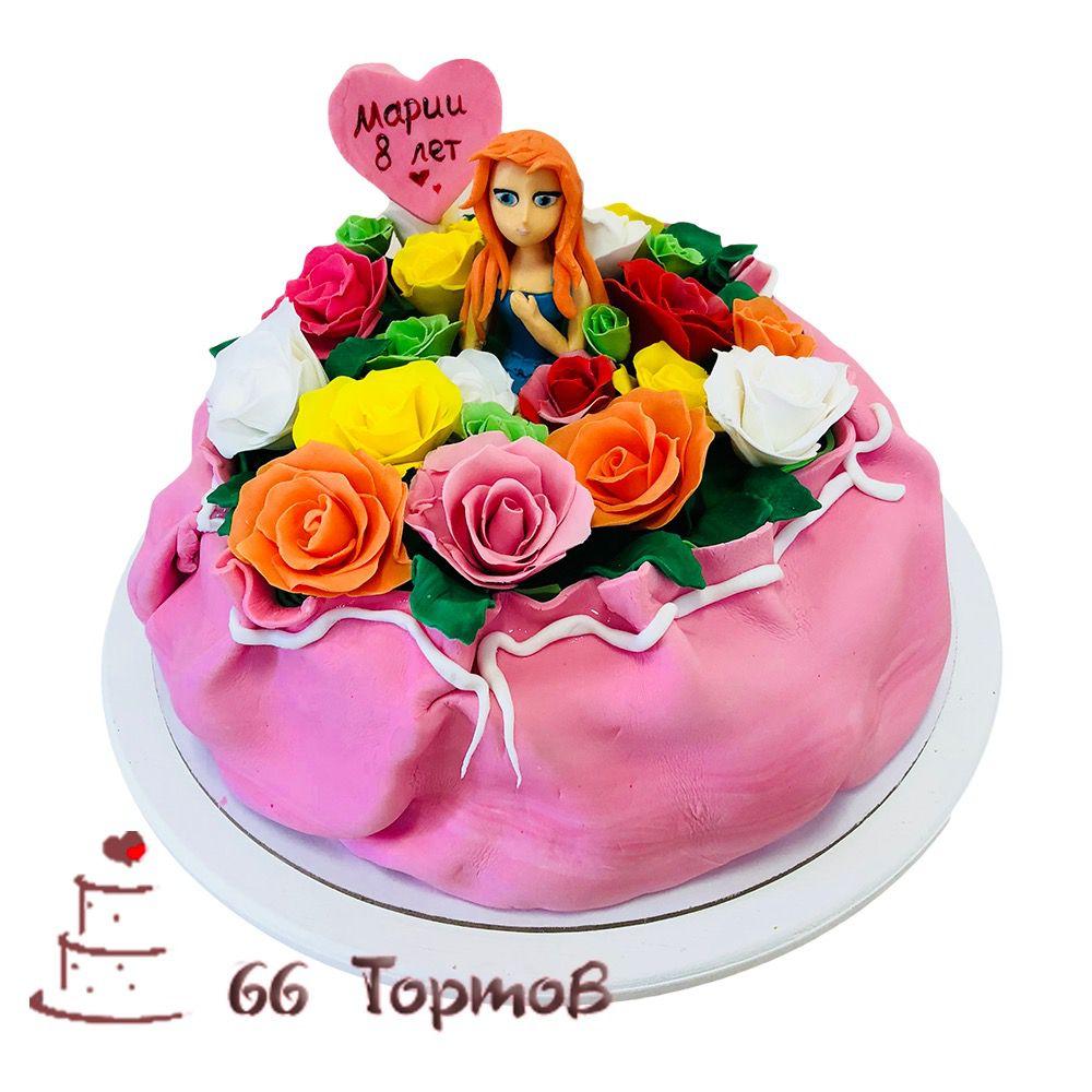 №132 Торт с девочкой в цветах