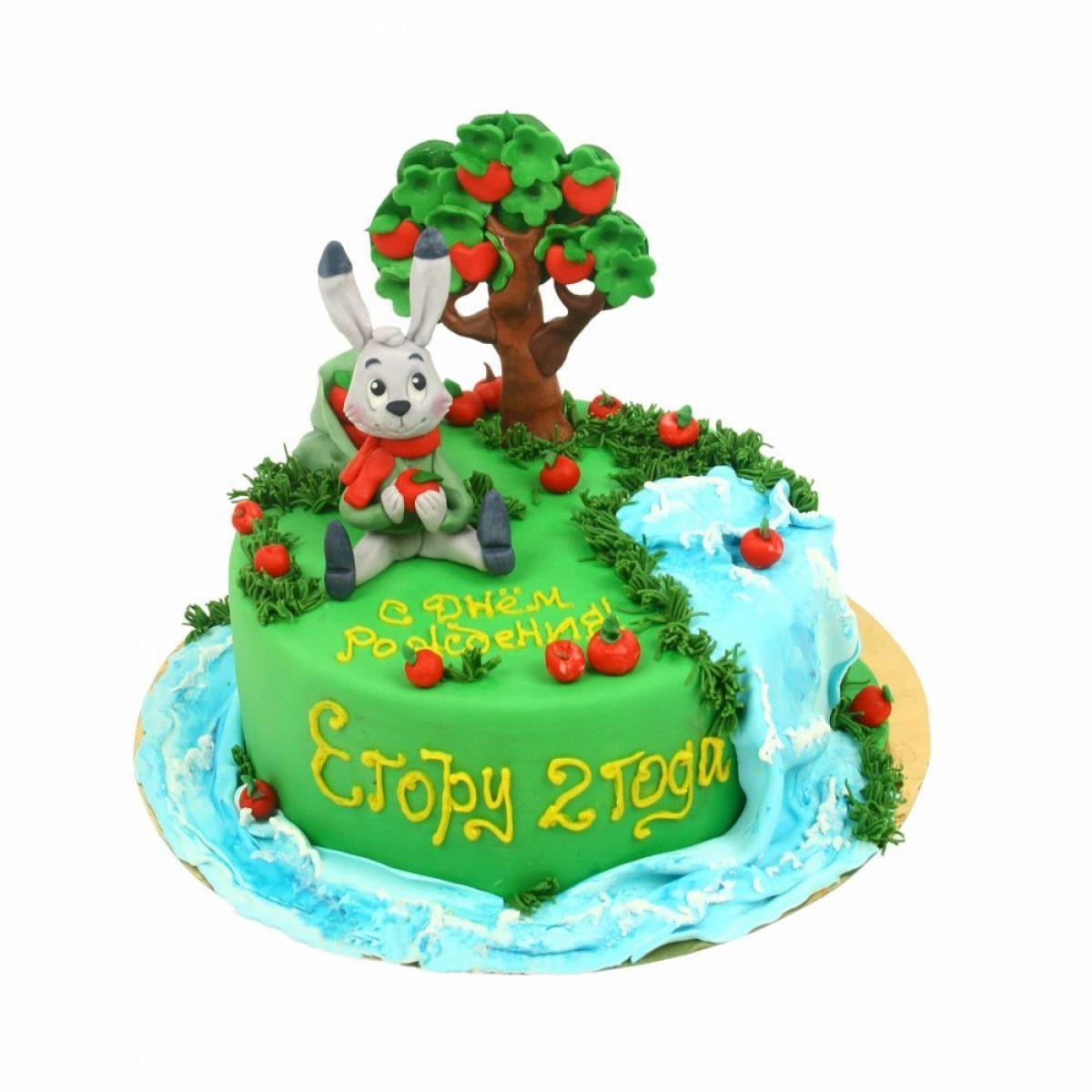 №1338 Торт зайка с яблоками