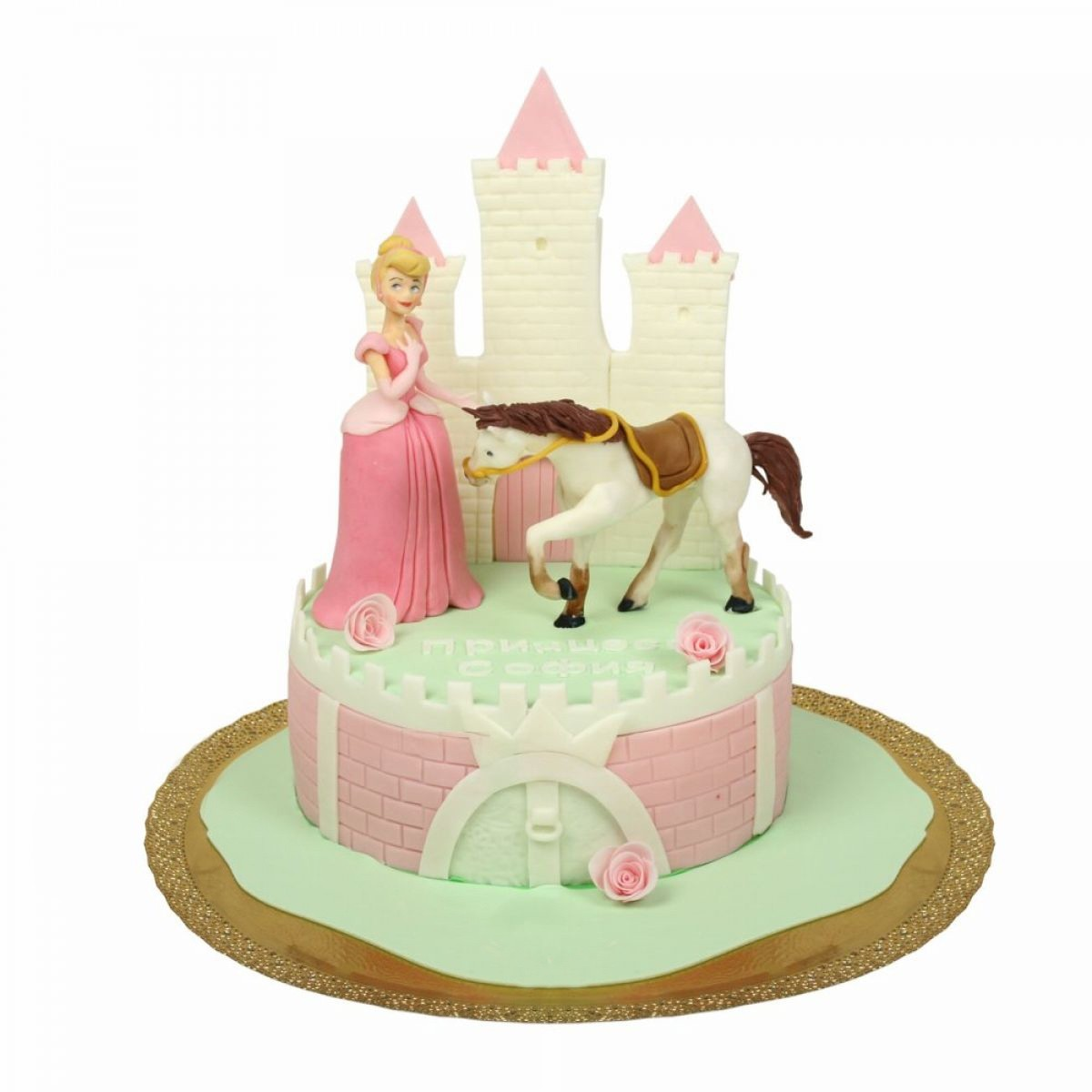 №1340 Торт принцесса с лошадкой