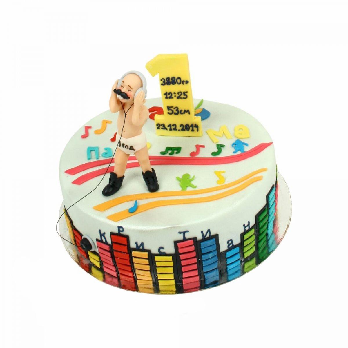 №1342 Торт музыкант