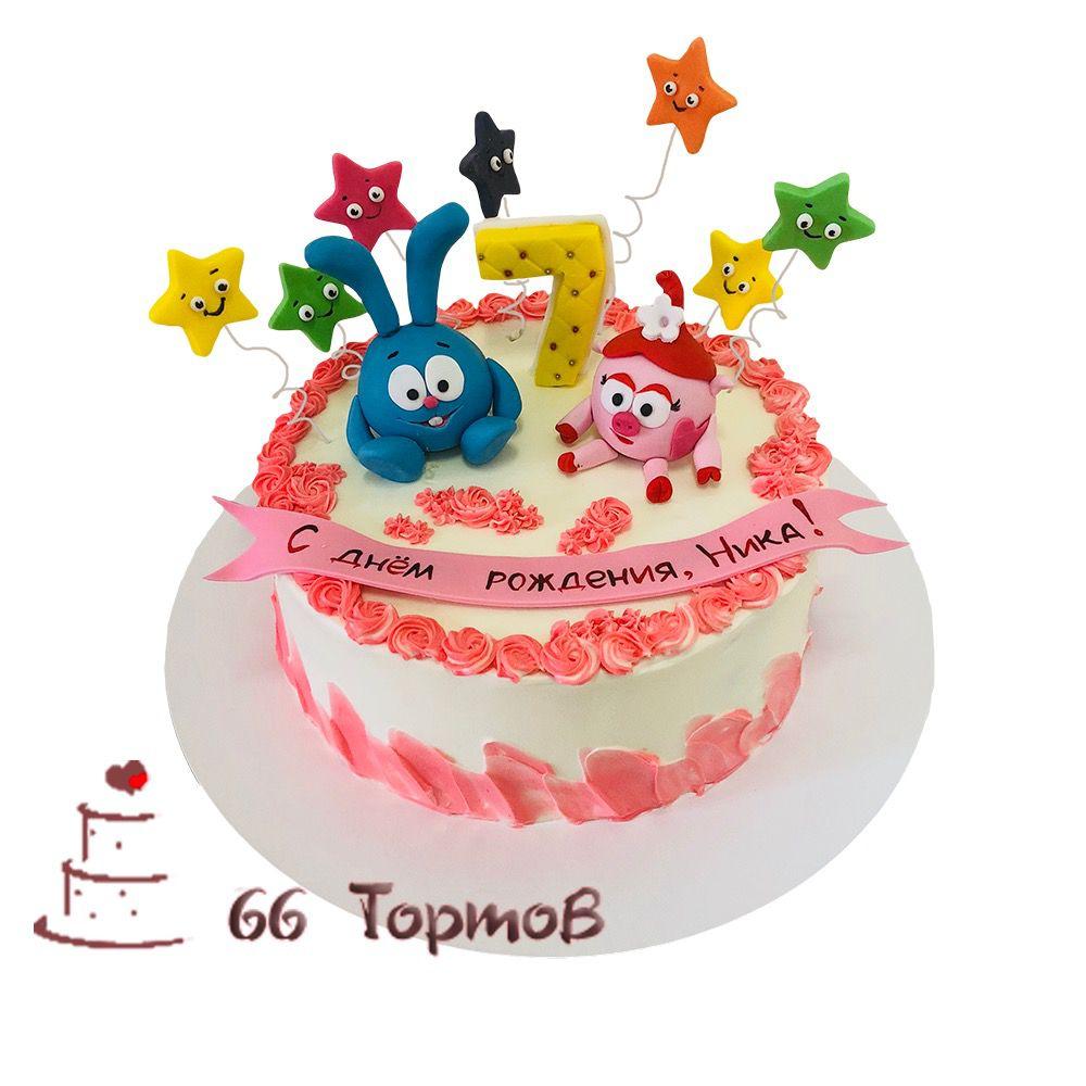 №138 Торт смешарики