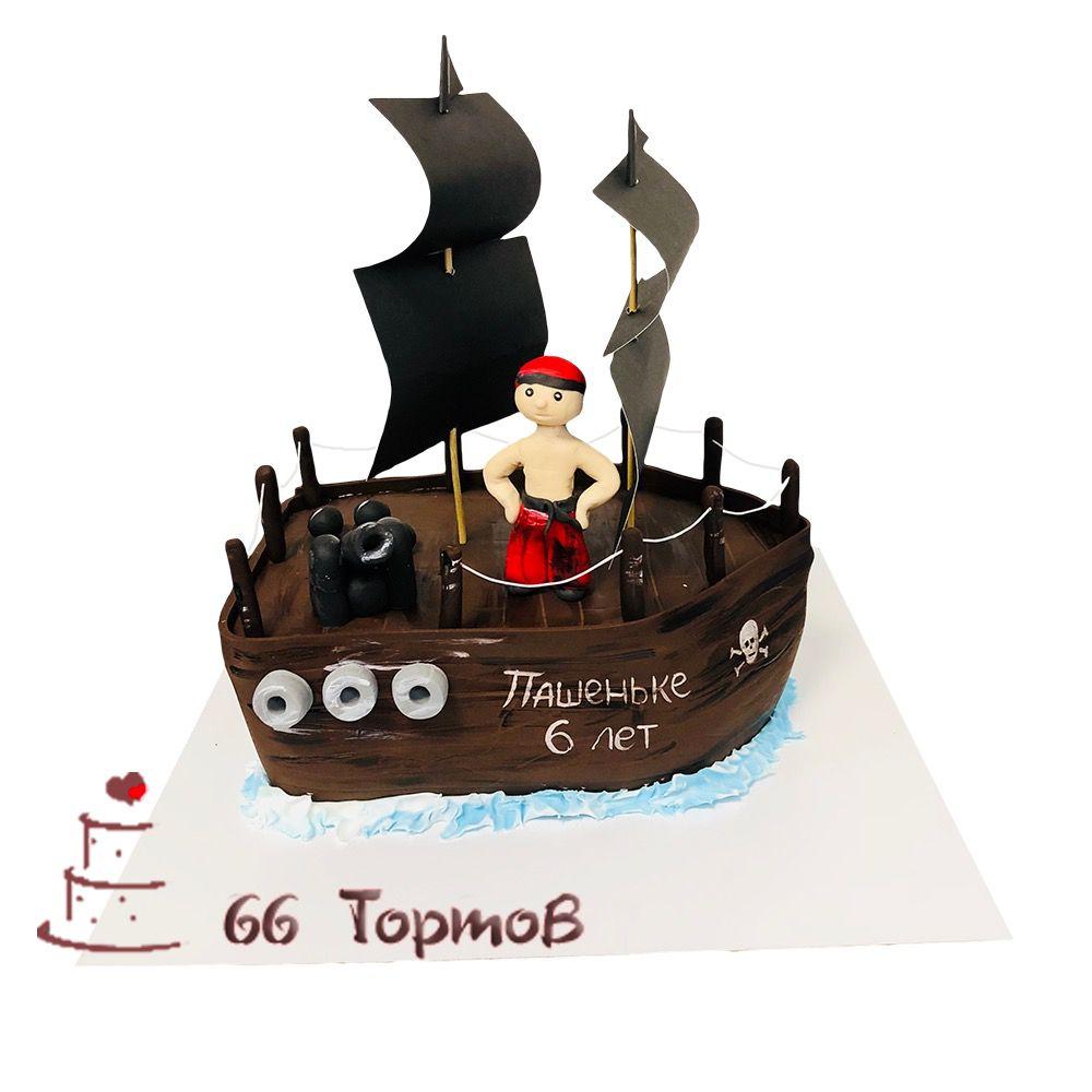 №140 Торт корабль с пиратом