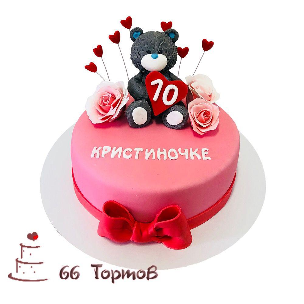 №143 Торт медведь с розами