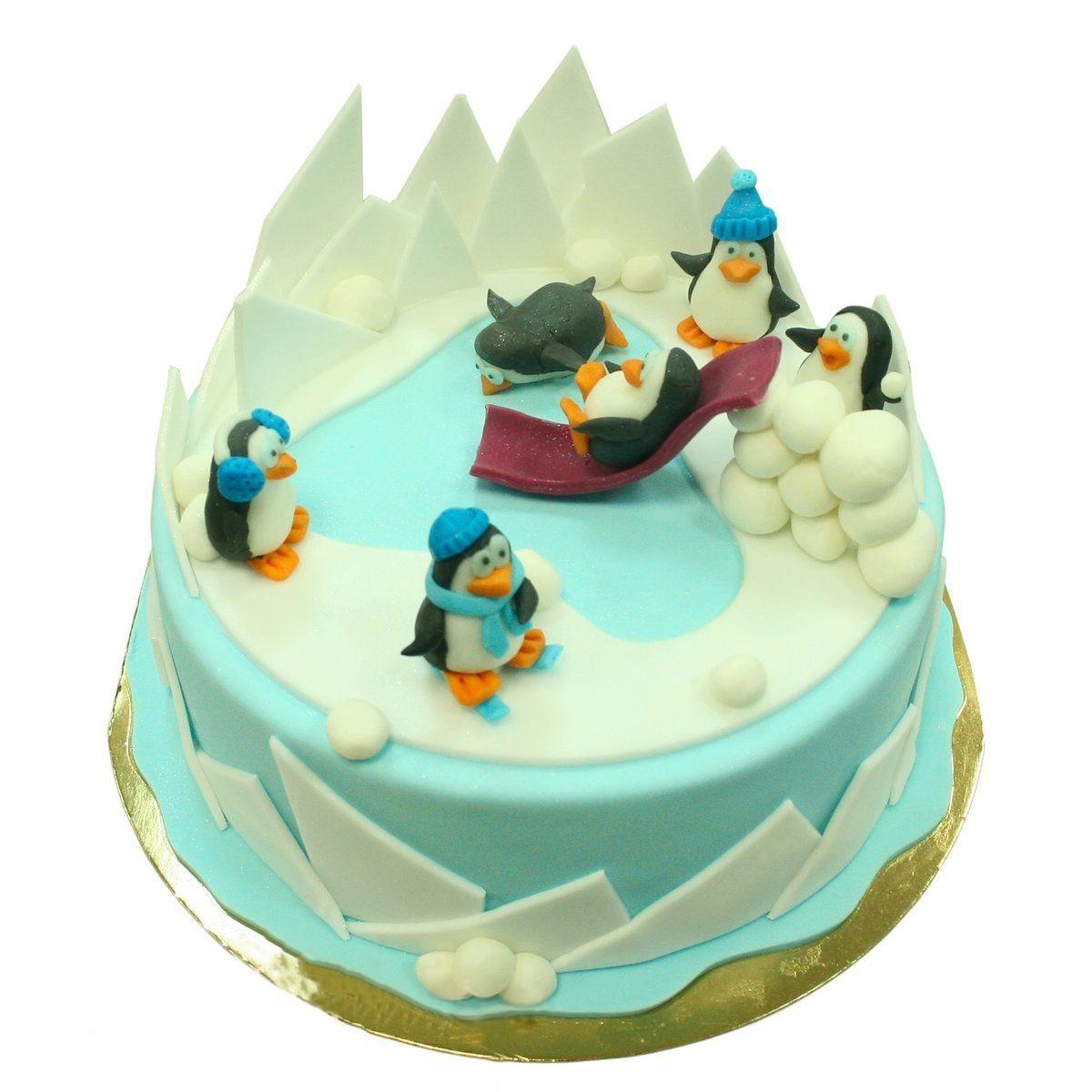 №1476 Торт пингвины в снегах