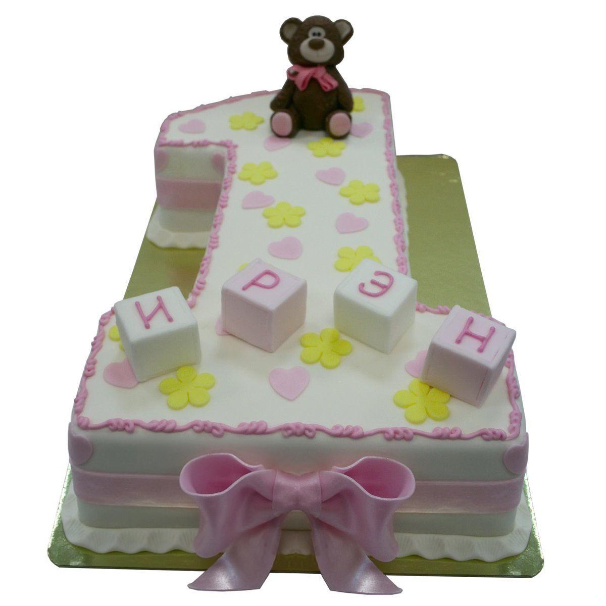 №1484 Торт мишка с кубиками