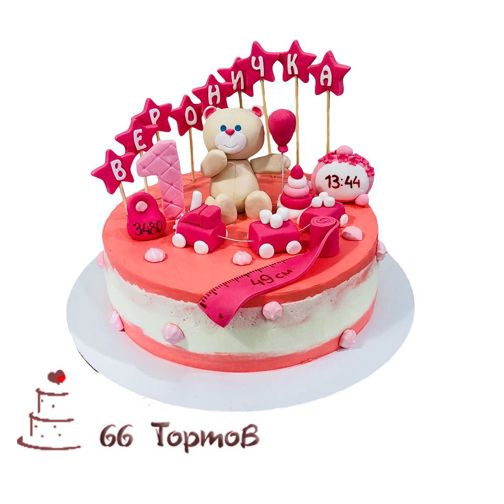 №151 Торт на годик с паровозиком