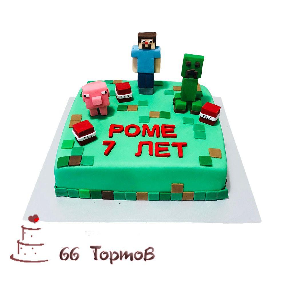 №161 Торт майнкрафт