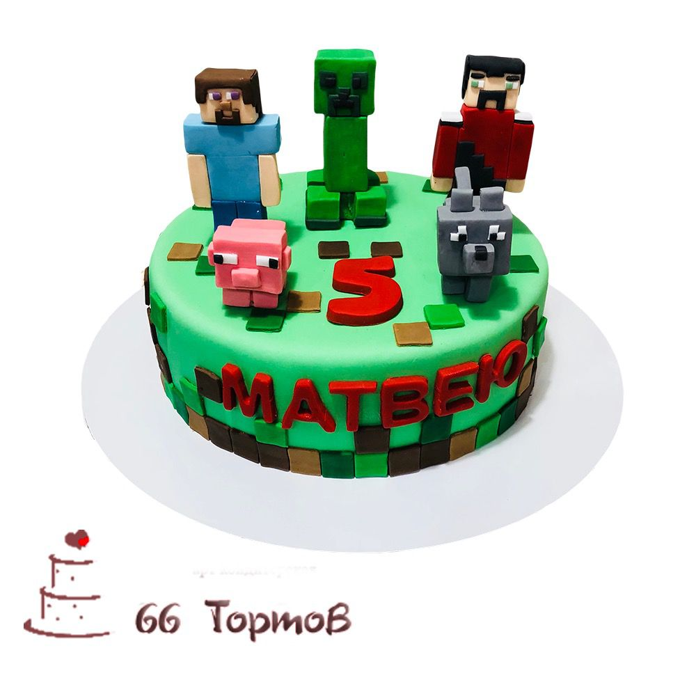 №164 Торт майнкрафт