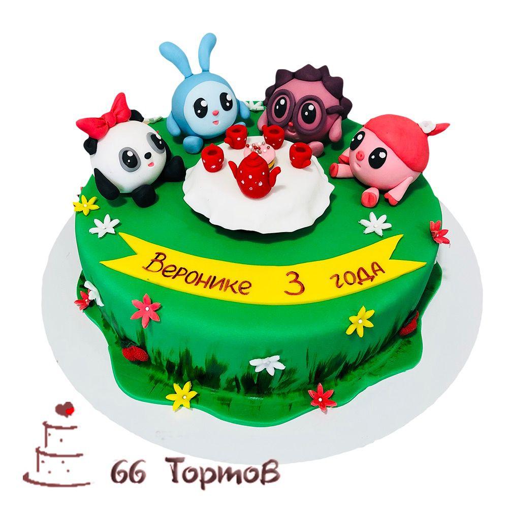 №173 Торт малышарики за столом