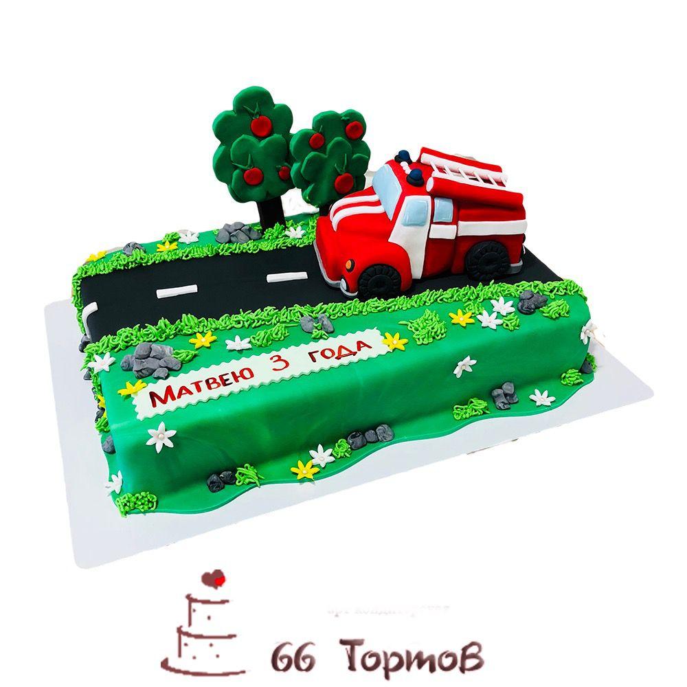 №182 Торт с пожарной машиной