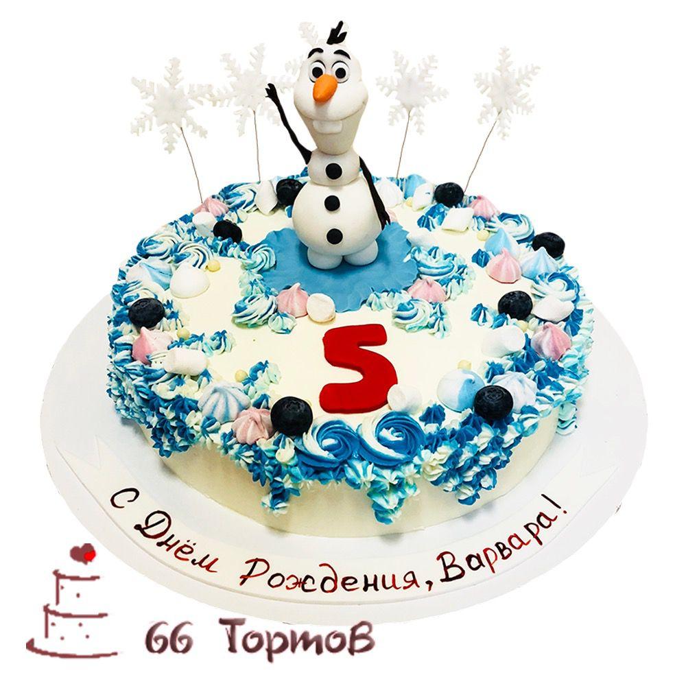 №285 Торт снеговик Олаф