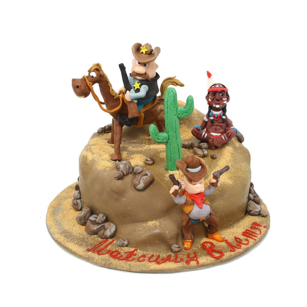 №302 Торт ковбои и индеец