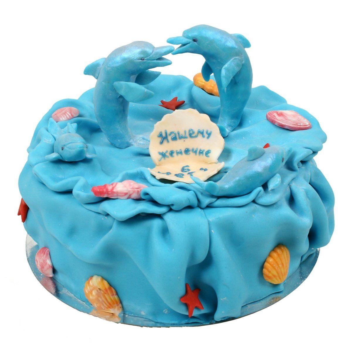 №521 Торт с дельфинами
