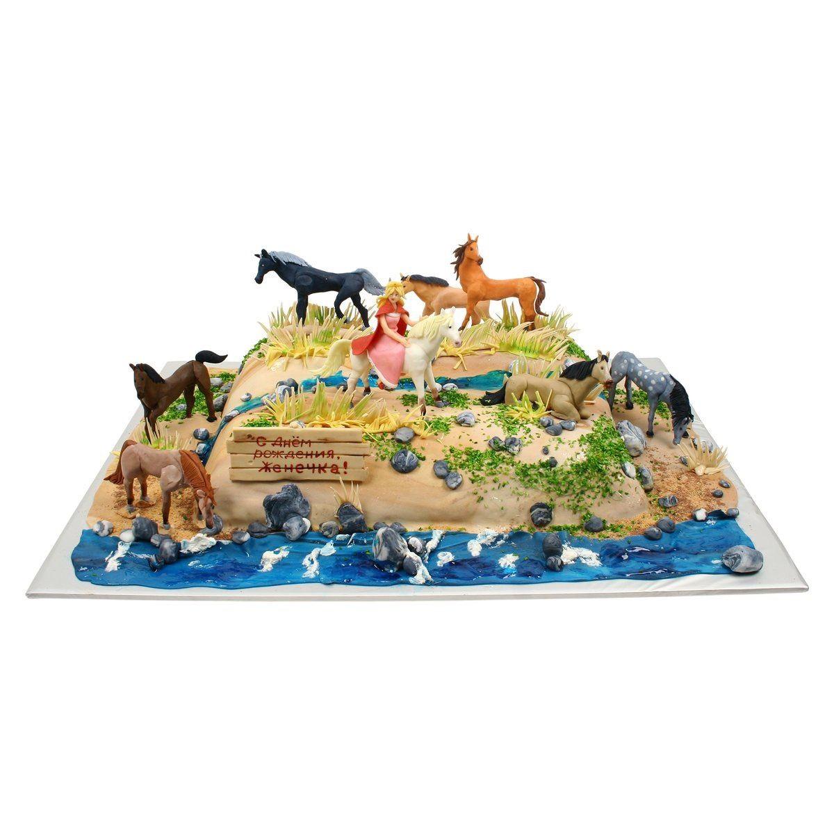 №550 Торт с лошадками