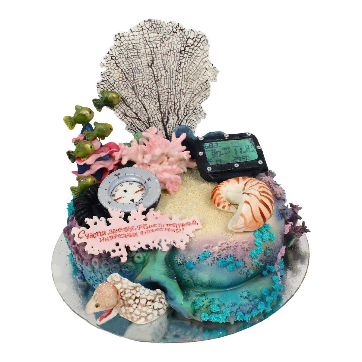 №577 Торт морской риф