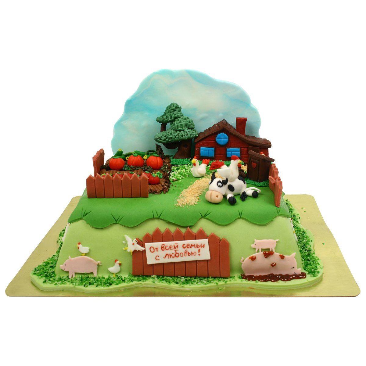 №581 Торт домик в деревне