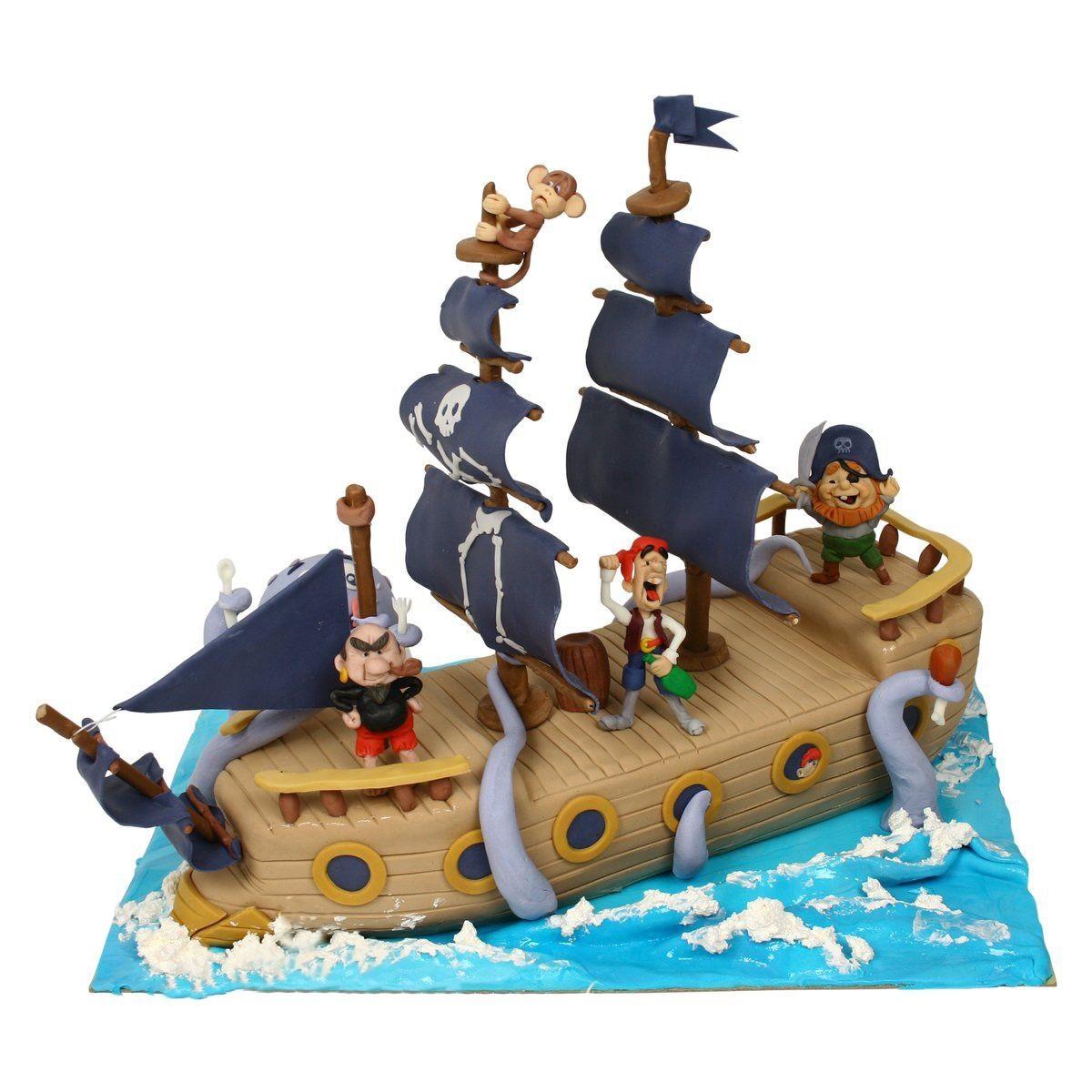 №583 Торт пиратский корабль