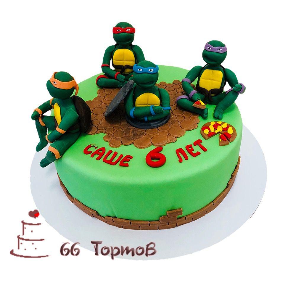 №95 Торт черепашки ниндзя