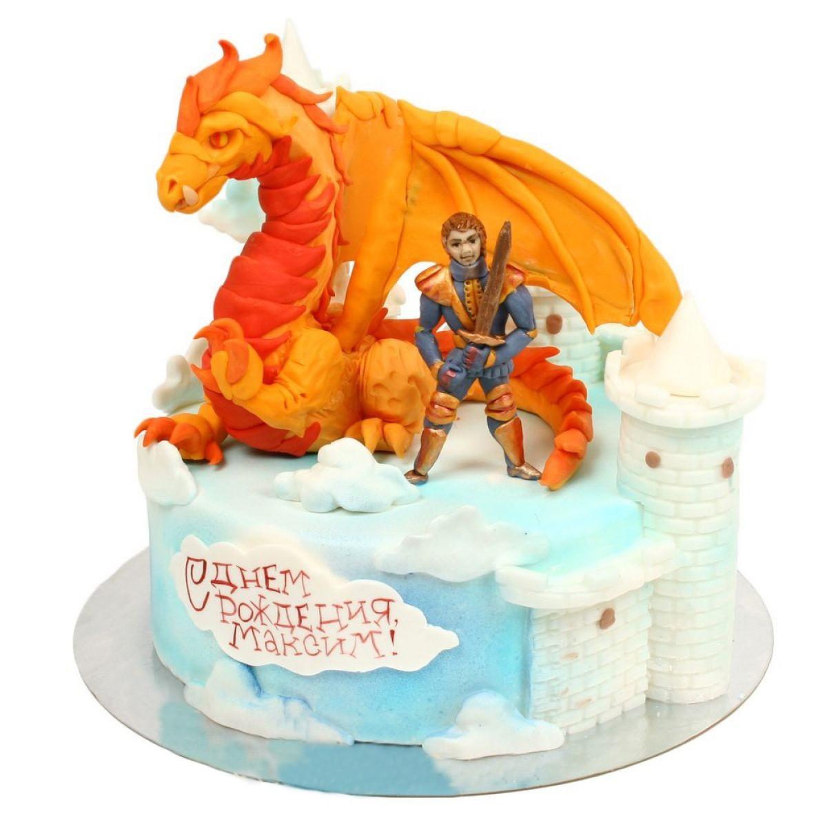 №950 Торт дракон и рыцарь