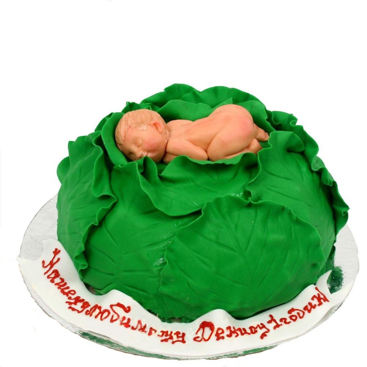 №964 Торт младенец в капусте